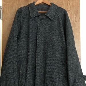 VINTAGE Men's BURBERRY Tweed Belted Overcoat L